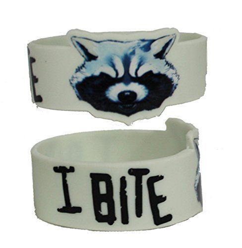 Licenses Products Guardians of The Galaxy Movie Rocket I Bite Rubber Wristband Novelty by Licenses Products