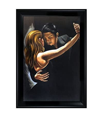 "Mark Bennett's ""Tango II"" Hand Painted Oil On Canvas, Multi"