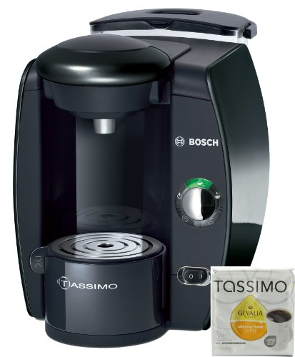 Bosch Tassimo T10 Beverage System and Coffee Brewer White with Pack of T Discs
