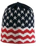 Vermont Originals Stars and Stripes Ski Hat, Red, One Size