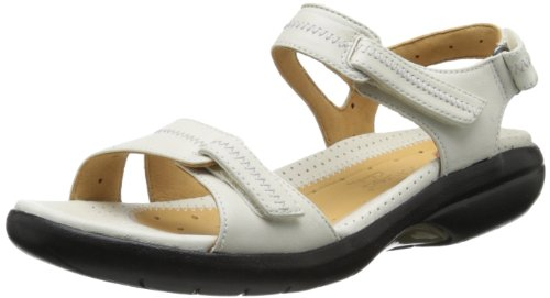 Clarks Women's Galleon Gladiator Sandal,White,8.5 M US
