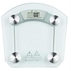 GVC Thick Tempered Glass Body Round Digital Weighing Scale