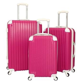 3 Piece Luggage Set II Color: Pink