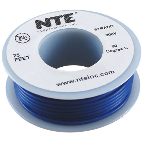 Nte Stranded 24 Awg Hook-Up Wire Blue 25 Ft.