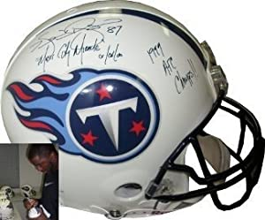 Kevin Dyson signed Tennessee Titans Full Size Authentic Proline Helmet Music City...