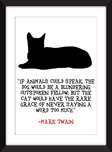 mark-twain-si-los-animales-pudieran-hablar-de-la-impresion-11-x-14-8-x-10-5-x-7-a3-a4-a5-arte-de-la-