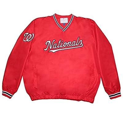 MLB WASHINGTON NATIONALS Mens Fall / Winter Wind Breaker Jacket with Lining