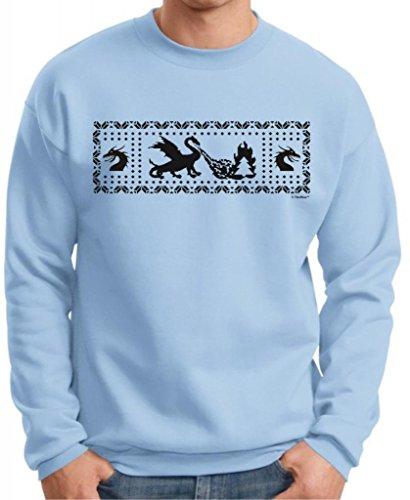 Dragons Funny Ugly Christmas Sweater Premium Crewneck Sweatshirt Xxx-Large Light Blue