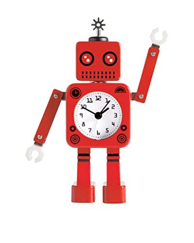 Torre & Tagus Robot Alarm Clock, Red