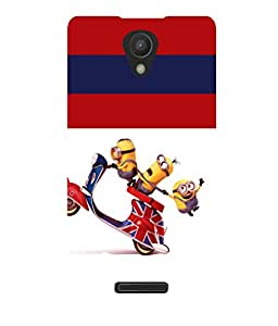 printtech Minions Scooter Back Case Cover for Xiaomi Redmi 3S::Xiaomi Redmi 3::Xiaomi Redmi 3 (3rd Gen)