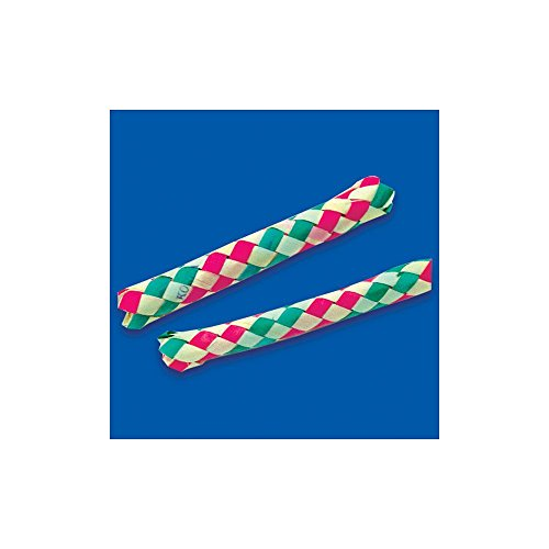 Lot Of 12 Assorted Color Chinese Finger Traps - 1