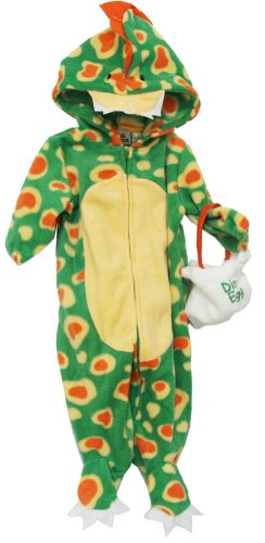 Dinosaur Baby Bag And Zip Up Bodysuit Costume Two Piece Set