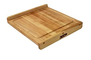 John Boos 17-3/4-by-17-1/4-Inch Reversible Maple Cutting Board with Gravy Groove