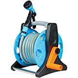 Prosper Hose Reel 15 Mtr With Hose Pipe And 6 Pattern Water Sprayer, Car Wash Pipe