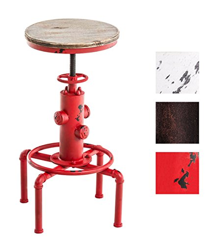 CLP-Metall-Barhocker-LUMOS-mit-Holzsitz-in-Hydranten-Form-Industrial-Design-robust-hhenverstellbar-Sitzhhe-59-75-cm-rot
