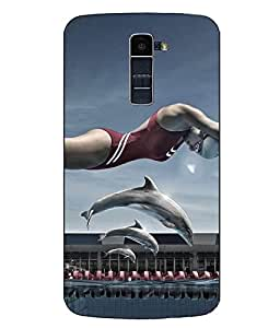 Case Cover Printed Multicolor Hard Back Cover For LG K10