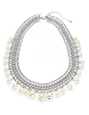 M&S Collection Pearl Effect Hanging Necklace