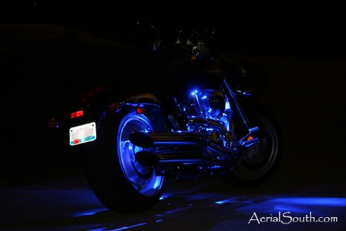 28-LED Motorcycle Accent Light Kit - Engine & Rear Wheel-Color:BLUE