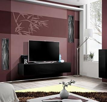 Mueble TV modelo Forli L en color negro, (varios colores disponibles)