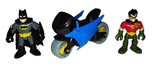 Imaginext Bat Cave Figuras DC SuperFriends Batman, Robin, Motos