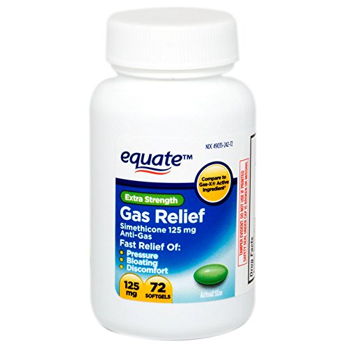 Equate - Gas Relief, Extra Strength, Simethicone 125 mg, 72 Softgels, Compare to Gas-X (Gas X Softgels compare prices)