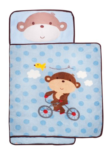 Kids Line Nap Mat, Boy Monkey back-1077195