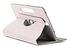 DOMO nCase B9 Smart Cover Carry Case For 7 inch Tablet PC With 360 Degree Rotation Tablet Stand And Camera Holes - White