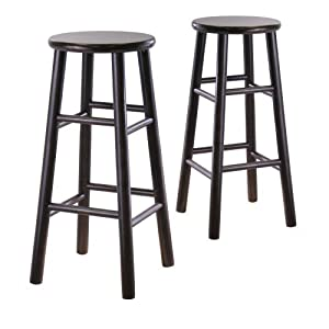 Winsome Wood S 2 Wood 30-Inch Bar Stools, Espresso Finish by Unknown