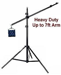 Ardinbir Professional Heavy Duty Photo Studio Boom Arm with Sandbag, Grip head and Light Stand