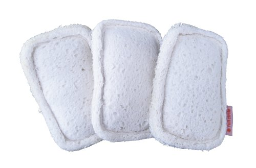 Image of Full Circle Flip Loofah Scrubber Sponge, 3-pack White, FC09200-3W