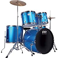 PP Blue Full Size Rock Drum Kit by JHS