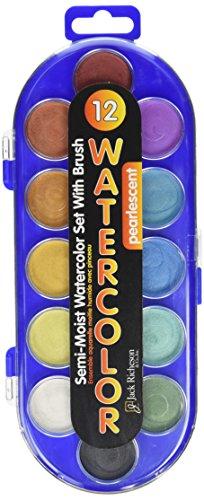 jack-richeson-400120-non-toxic-semi-moist-heavy-duty-watercolor-paint-set-plastic-tray-assorted-pear