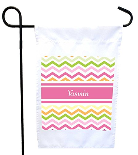 rikki-knight-yasmin-pink-chevron-name-house-or-garden-flag-with-11-x-11-inch-image-12-x-18-inch