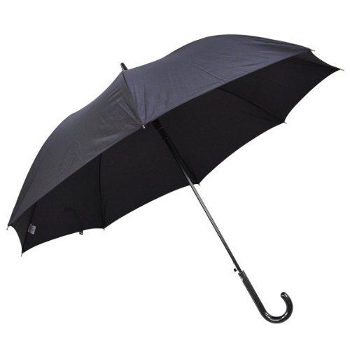 紳士傘 グラスファイバー 長傘 黒 65cm