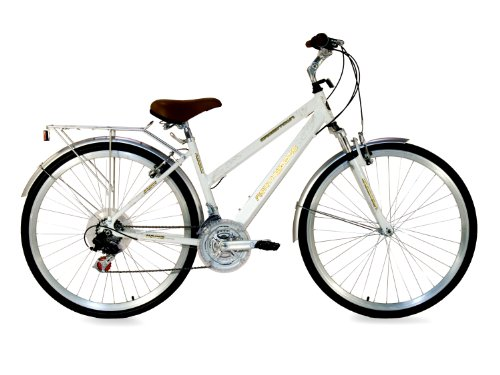 Northwoods Ladies Crosstown 21 Speed Hybrid Bicycle, White