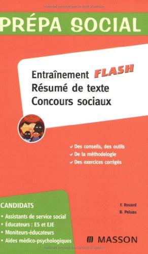 Entraînement flash résumé de texte concours sociaux