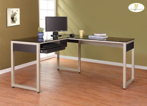 Buy Low Price Comfortable L Shape Computer Desk of Network Collection by Homelegance (B004ZOAS1S)