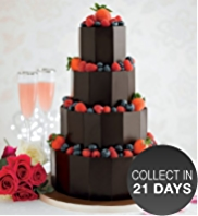 Dark Chocolate Plaque Wedding Cake