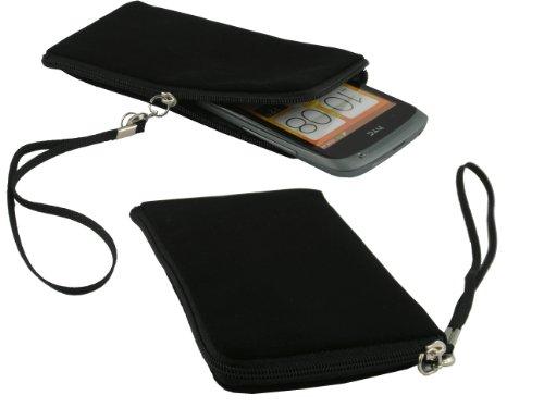 mobilitii Neoprene Tasche Hülle mit Reißverschluss in schwarz für HTC Windows Phone 8x / Nokia Lumia 920 / Google Nexus 4 / LG P760 Optimus L9
