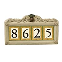 Grasslands Road Estate Pineapple 3 by 4-Inch Build Your Address Plaque 4 Digit Magnetic Number Tile Holder with Stakes by amscan - Lawn & Garden