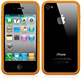 BUMPER CASE FOR APPLE IPHONE 4S / IPHONE 4 - ORANGE PART OF THE QUBITS ACCESSORIES RANGEby Qubits