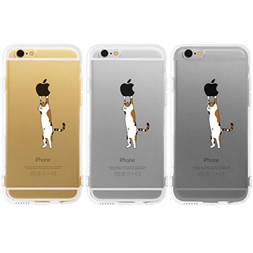 Highend berry amazon限定 iPhone6s / iPhone6 4.7インチ 落下防止 用 ストラップ ホール 保護キャップ 一体型 ソフト TPU ケース ねこ コレクション ストラップ 付き 三毛猫
