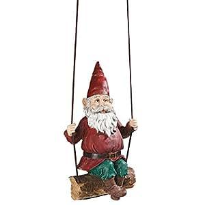 Design Toscano Sammy The Swinging Gnome Statue Quantity: Single
