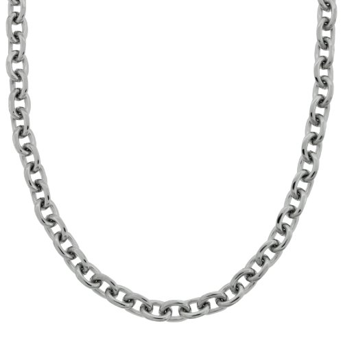 Men's Stainless Steel Medium Rolo Necklace, 22