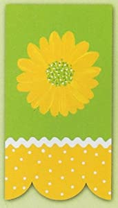 Yellow Daisy Appliqued Hand Towel