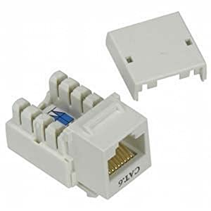Black Point Products BT-224 White Cat-6 RJ45 Keystone Jack, White