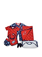 Pitter Patter Baby Gifts Conjunto (Azul / Rojo)
