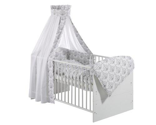 schardt 13 410 00 00 1 739 bettset 4 teilig ornaments grey. Black Bedroom Furniture Sets. Home Design Ideas