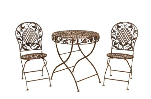 Set3 Cairo Bistro Patio Garden Table and Chairs