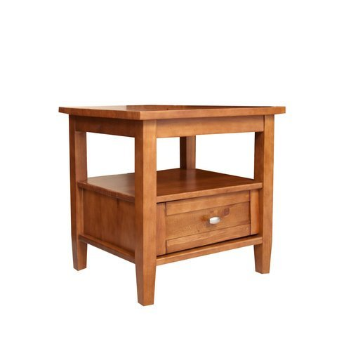 New Simpli Home Warm Shaker Coffee Table Honey Brown Rounded Ebay